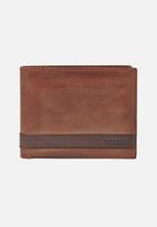 Fossil - Quinn leather wallet - brown