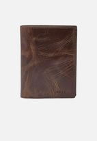 Fossil - Derrick leather wallet - brown