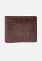 Fossil - Derrick leather large coin - brown