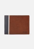 Fossil - Elgin leather traveler wallet - brown