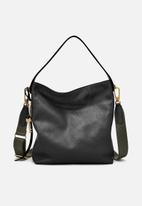 Fossil - Maya leather small hobo bag - black