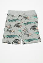 name it - Dille long shorts - grey