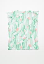 name it - Erine cap sleeve top - green