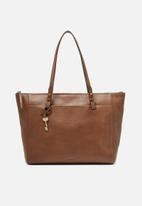 Fossil - Rachel leather tote bag - brown