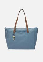 Fossil - Rachel leather tote bag - blue