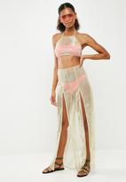 Missguided - Halter split leg top and pant set - gold