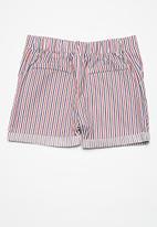 Superbalist - Pocket chino long shorts - red & navy