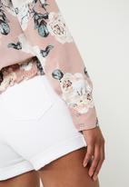 Superbalist - Smocked hem blouse - pink
