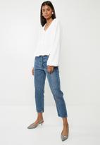 Superbalist - Feminine blouse with peplum - white