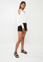 Superbalist - One shoulder knit top - white