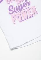 Superbalist - Embroided swing tee - white