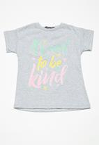 Superbalist - Embroided swing tee - grey