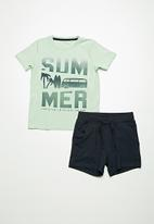 name it - Portan summer print short set - multi