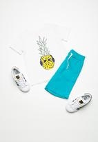 name it - Pineapple short sleeve top - white