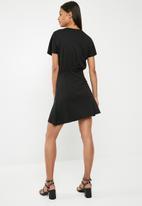 Pieces - Ginny wrap dress - black