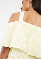 Pieces - Ginette top - yellow & white