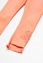 name it - Polly skinny chino pants - orange