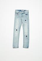 name it - Polly skinny patch denim - blue