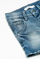 name it - Sofus denim long shorts - blue