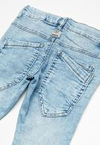 name it - Robin draw cord denim pants - light blue denim