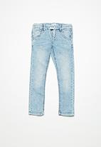 name it - Robin draw cord denim pants - light blue denim