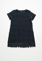 name it - Susan short sleeve lace dress - navy