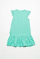 name it - Vida dress - green & white