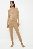 Missguided - Lounge tracksuit set - brown