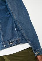 Only & Sons - Coin denim trucker jacket - blue