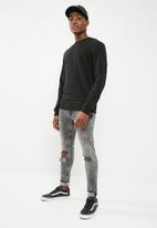 Only & Sons - Skinny acid wash jeans - black