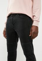 Only & Sons - Spun skinny biker denims - black