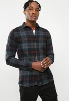 Only & Sons - Thiery check shirt - navy