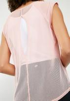 Cotton On - Split back T-shirt - pink