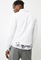 Only & Sons - Norman denim trucker jacket - white