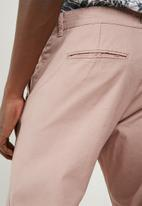 Only & Sons - Tim twill cropped pants - pink