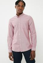 Only & Sons - Alvaro oxford shirt - maroon