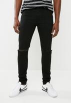 Superbalist - Super skinny knee slice jeans - black
