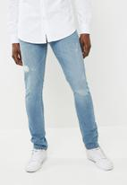 Superbalist - Skinny scuffed jeans - blue