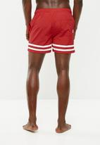 Jack & Jones - Sunset swim shorts - red & white