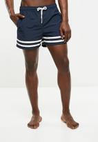 Jack & Jones - Sunset swim shorts - navy & white