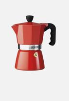 La Cafetiere - 3 cup classic espresso moka pot - red