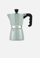 La Cafetiere - 3 cup classic espresso moka pot - pistachio