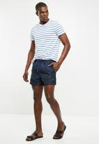 Only & Sons - Laust swim shorts - black & blue