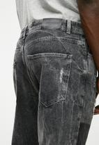 Only & Sons - Beam knee patch jeans - charcoal