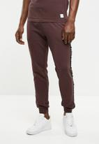Only & Sons - Marcel tape sweat pants - burgundy
