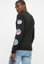 Only & Sons - NASA long sleeve tee - black