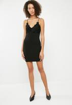 Missguided - Applique front strappy mini dress