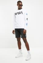 Only & Sons - NASA long sleeve tee - white