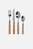 Drift - 16 Piece cutlery set - wood handle
