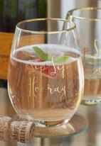 Ava & I - Stemless wine glass - sip sip hooray